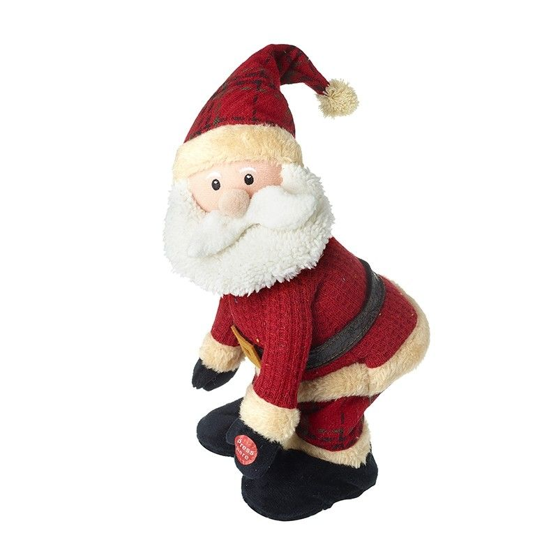 Fun Musical Dancing Santa - 30cm tall x 15cm x 17cm