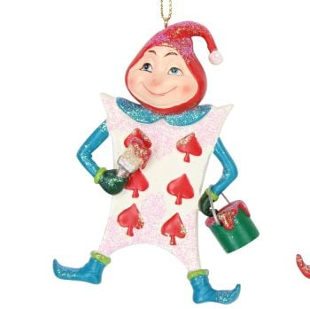 The 'Red Playing Card' Alice in Wonderland Character - 10cm tall x 7cm w x 2.5cm d