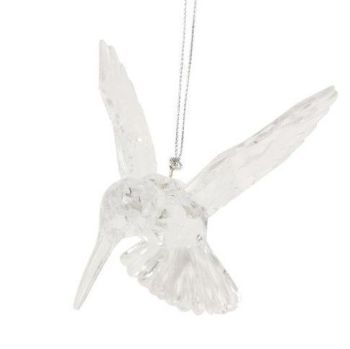 Clear Hovering Hummingbird - 13cm