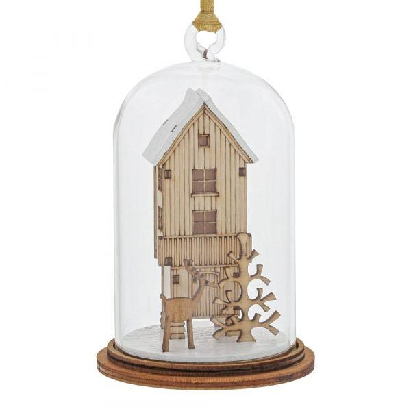 'A Christmas Wish' Christmas Kloche Bauble - 8.5cm high x 5cm diameter.
