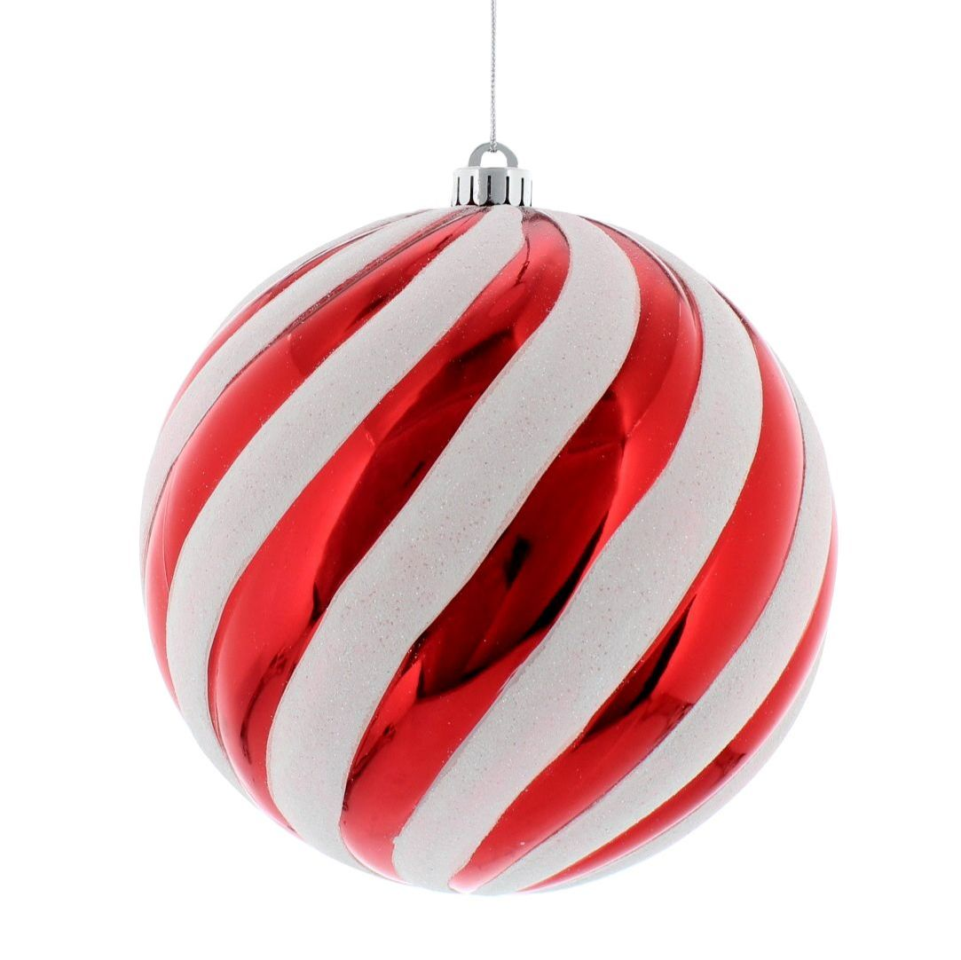 Large Red & White Stripe Candy Ball