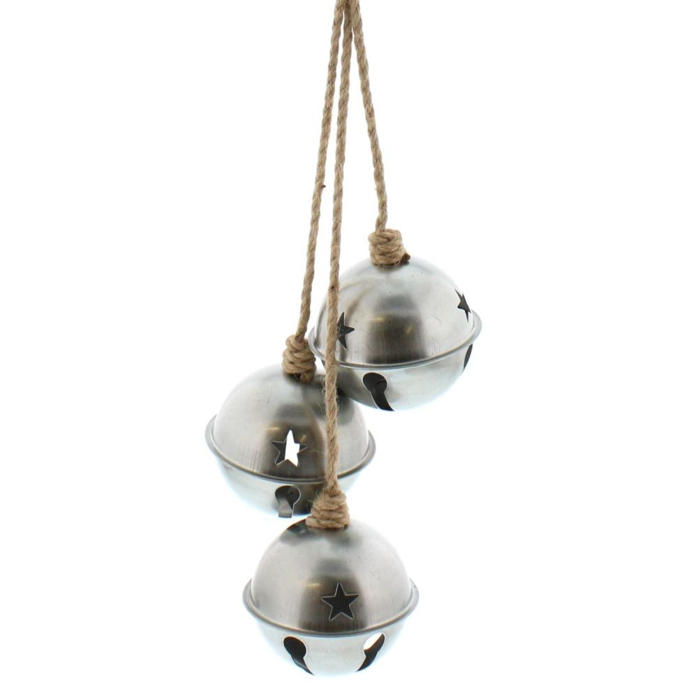 Silver  3 Jingle Bell Cluster -