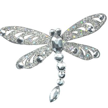 A Stunning Silver & Bejewelled Glitter clip on Dragonfly. We also have matching Butterflies for you to mix & match.