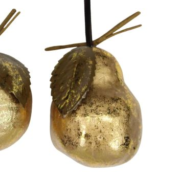 Gold Pear Bauble - 9cm tall x 7cm diameter