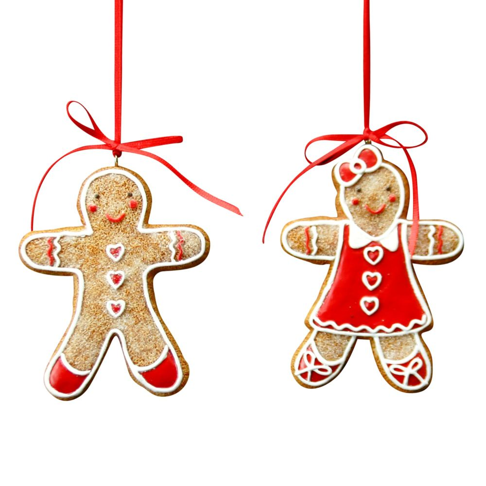 Gingerbread Boy or Girl with Heart shaped Buttons.