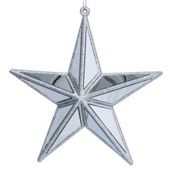Silver Acrylic & Mirror Star