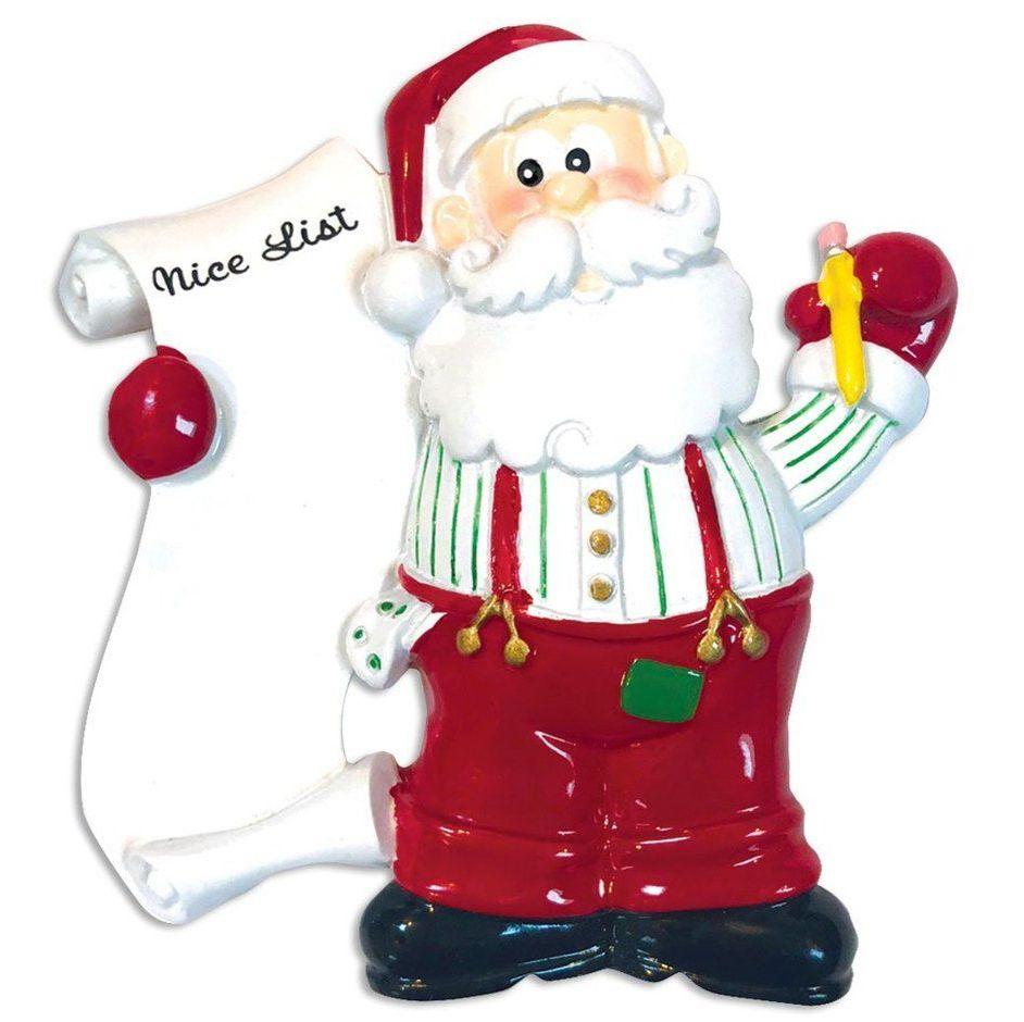 Santa's nice list hanging ornament