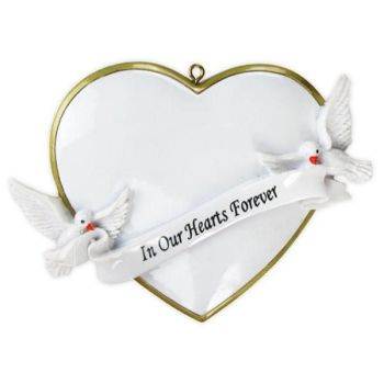 In Our Hearts Christmas Forever Personalised Christmas Decoration Christmas Decoration