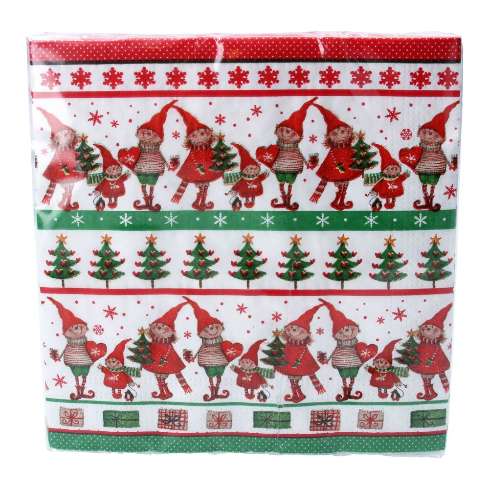 Scandi Elf  Paper Napkins