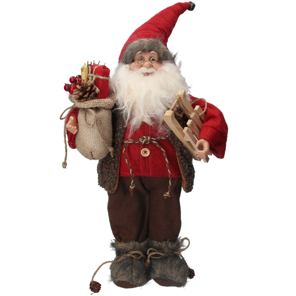 Beautiful Plush Santa Decoration - 45cm to the top of his hat