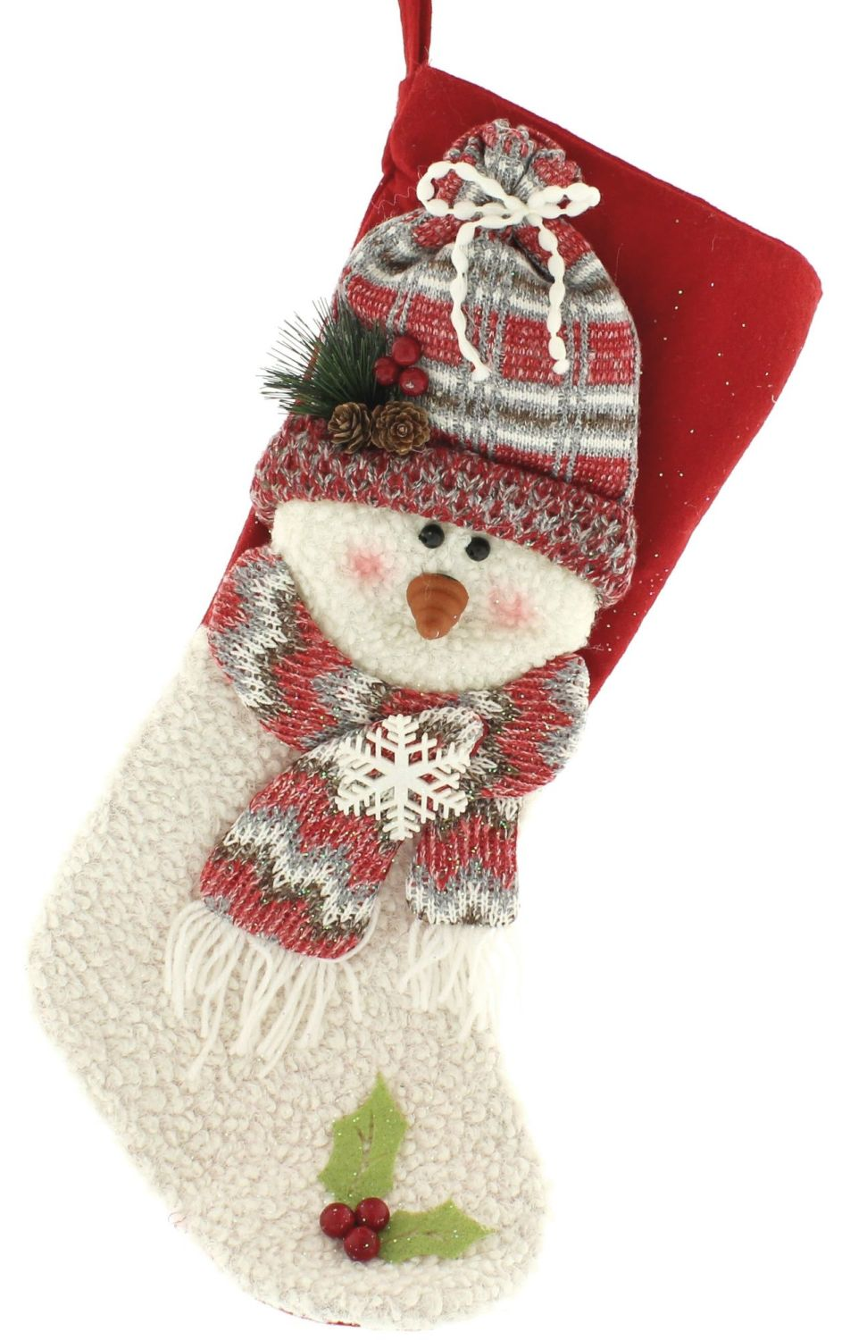 Snowman with a Beanie Stocking