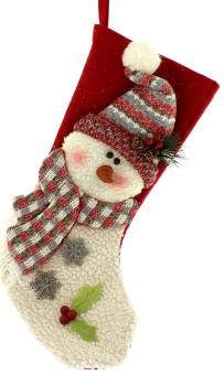 Snowman with a Pom Pom hat Stocking