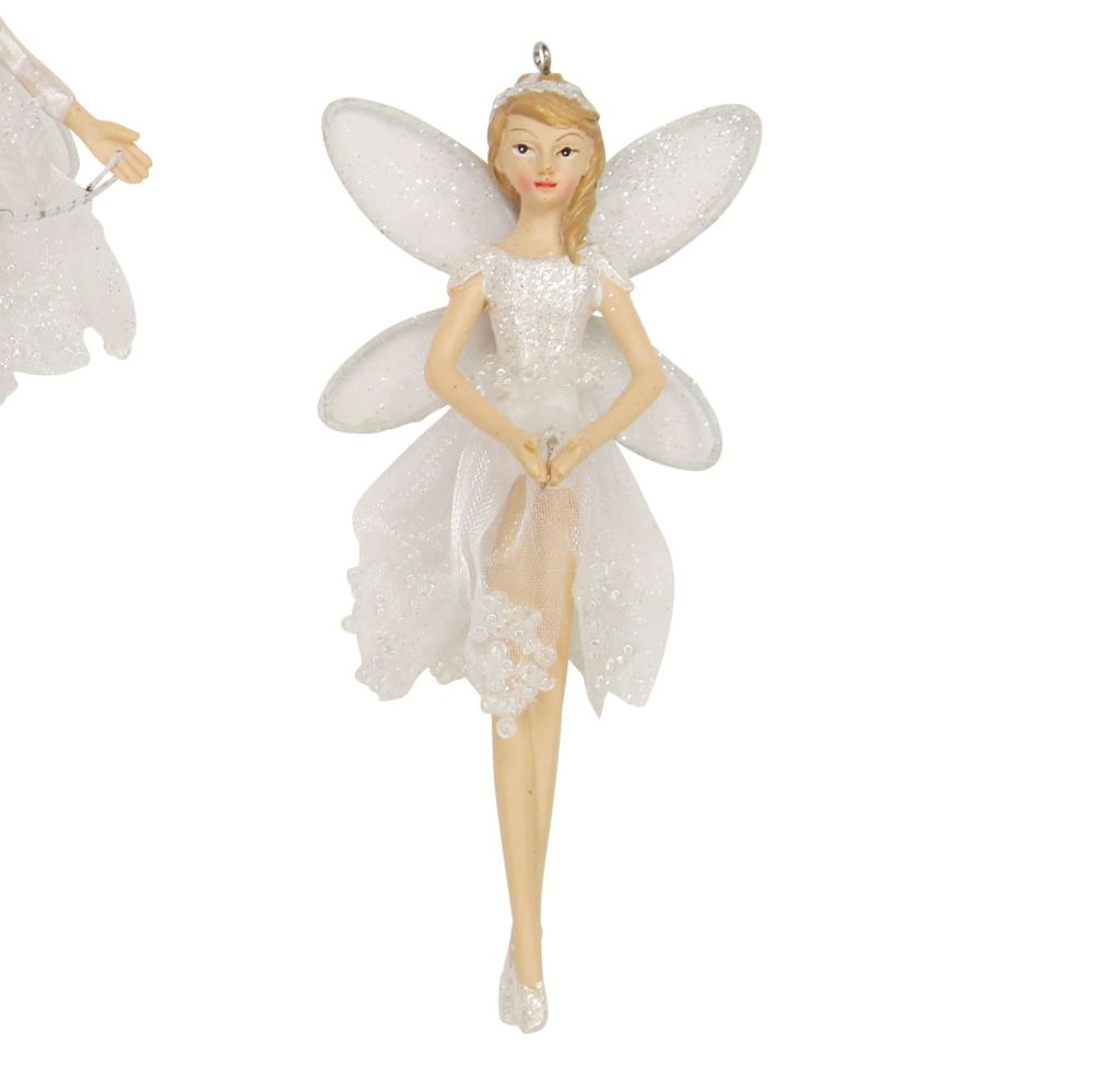 Sheer Irid White Dress Fairy Bauble