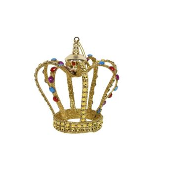 A simply stunning Bejeweled Gold Glitter Crown.