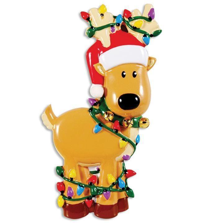 Deer Tangled in Christmas Lights