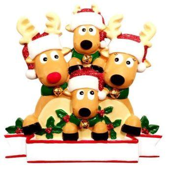 Festive Reindeer Family of 4