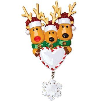 Festive Reindeer Family of 3
