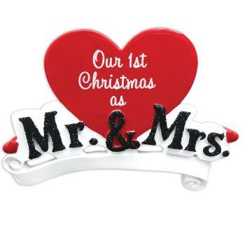 Love Heart  - 1st Christmas as Mr & Mrs