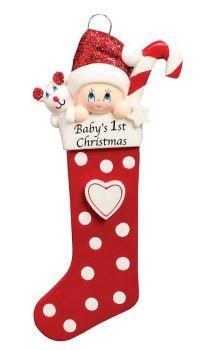 Baby's 1st Red Stocking