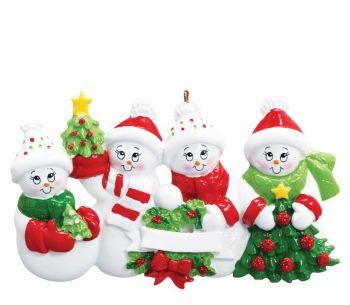 Snow Family of Four