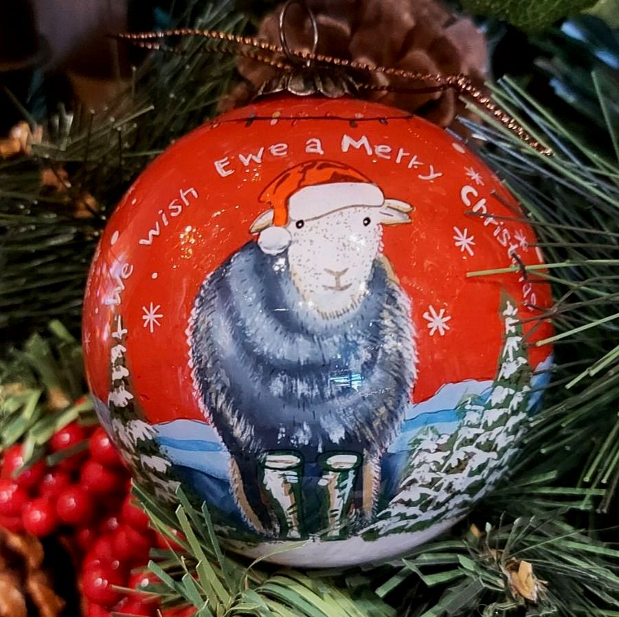Herdywick Lake District Exclusive Hand Painted Glass Bauble