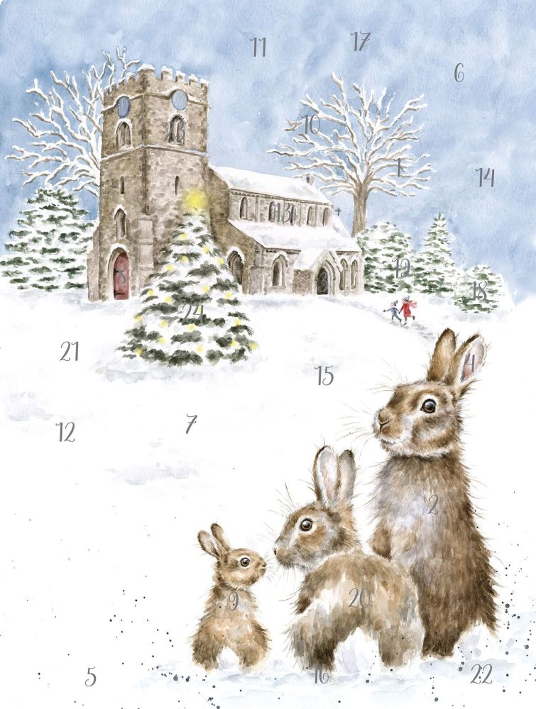 'Silent Night'  Advent Calendar Card by Wrendale - 210mm x 158mm
