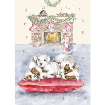 'All I want for Christmas'  Advent Calendar Card by Wrendale - 210mm x 158mm