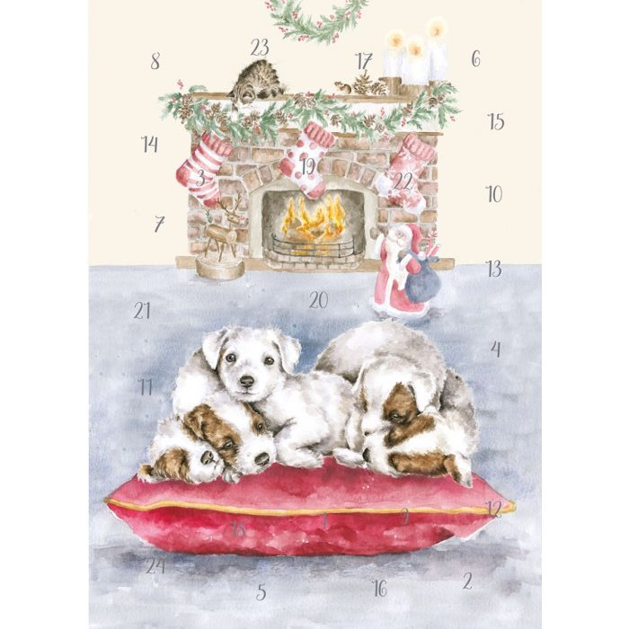 'All I want for Christmas'  Advent Calendar Card by Wrendale - 210mm x 158m