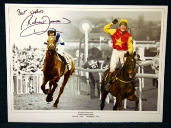 Richard Dunwoody West Tip And Minnehoma Signed 12x16 Photograph