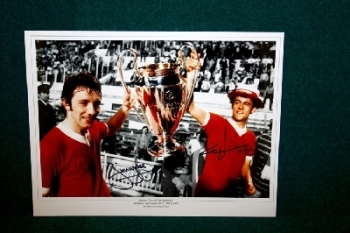 Ray Kennedy & Jimmy Case Signed 16x12 Photograph