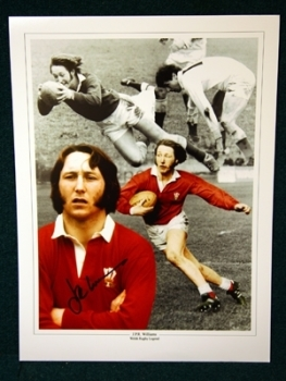 JPR Williams Signed wales 12x16 photograph
