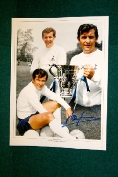 Alan Mullery Hand Signed 16x12 Photo Montage