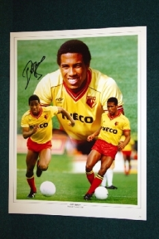John Barnes Hand Signed 16x12 Photo