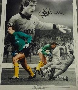 Ray Clemence Signed 12x16 photograph