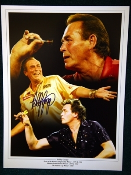 Bobby George Signed 12x16 Darts Montage