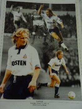 Paul Walsh Signed Spurs Photograph