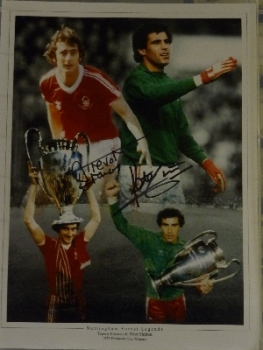 Trevor Francis And Peter Shilton Signed Nottingham Forest Photog