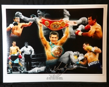 Marco Barrera signed Montage