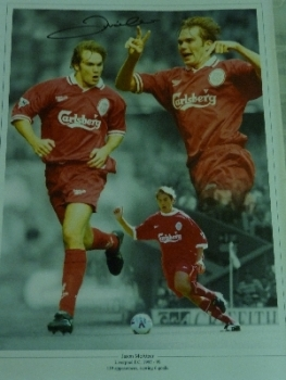 Jason McAteer Signed Liverpool Photograph