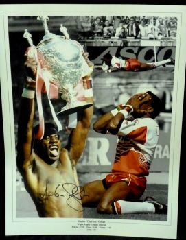 Martin Offiah Signed 12x16 Montage