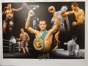 Carl Froch Signed 12x16 Montage