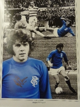 Alfie Conn Signed Rangers 12x16 Photograph
