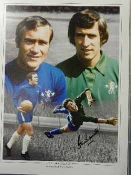 Ron Harris And Peter Bonetti Signed Chelsea 12x16 Photograph