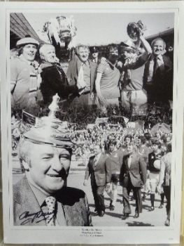 Tommy Docherty Signed 12x16 Manchester United Photograph