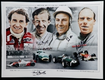 Brooks, Watson, Moss and Attwood Signed 12x16 Photograph