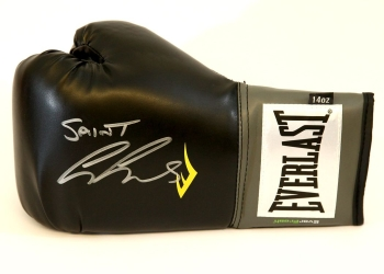 George Groves Signed Black Everlast Boxing Glove