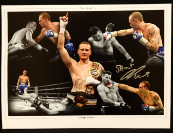 George Groves Signed 12x16 Montage