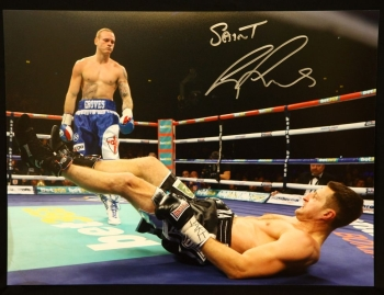 George Groves vs Carl Froch Signed 12x16 Photograph. A