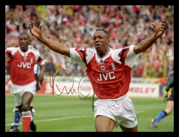 Ian Wright Hand Signed 12x16 Arsenal Photograph : C