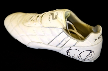 Ian Wright Arsenal Signed White Football Boot